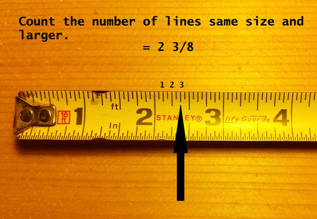 How to read a tape measure and tape measure increments eigths