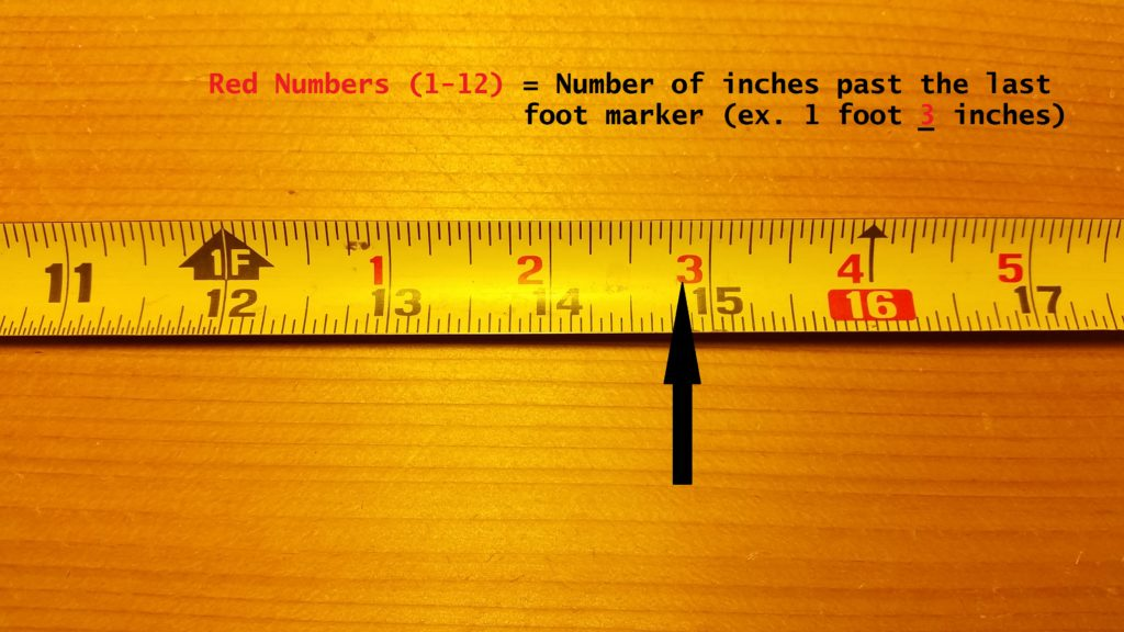 how to read a tape measure a know what the red numbers mean