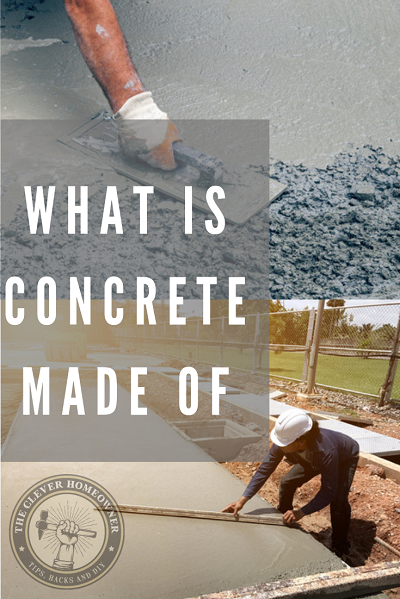 what cement concrete is made out of