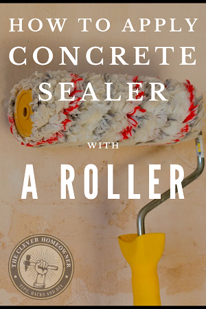 tips for applying concrete sealer with a roller