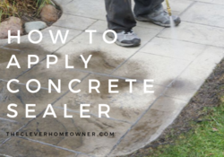 how to apply concrete sealer with roller and pump sprayer