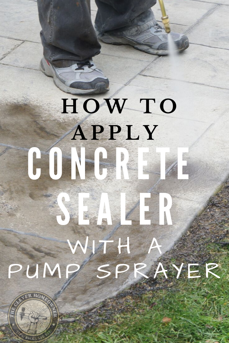 applying concrete sealer with a pump sprayer