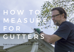 how to measure rain gutters