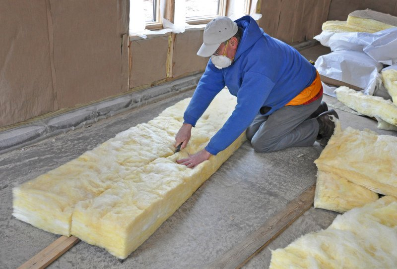 how to clean insulation dust