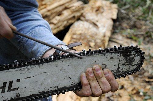 sharpening chainsaw blade