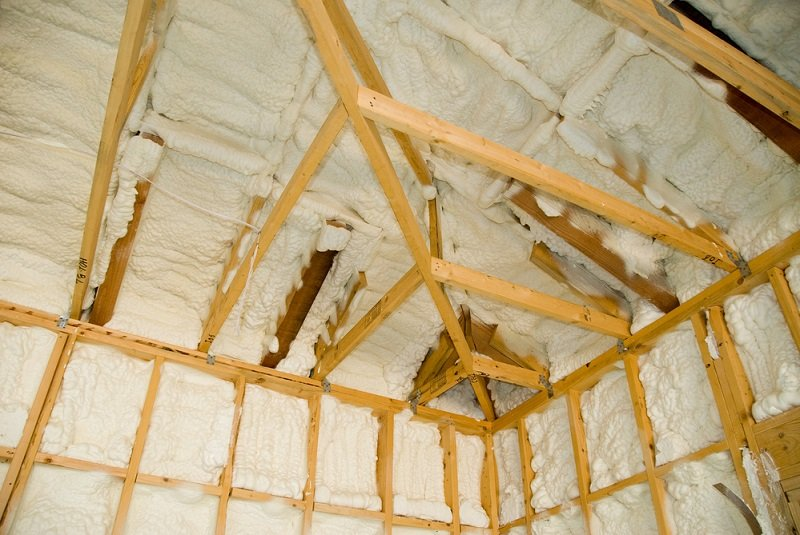 spray foam insulation used for attic space