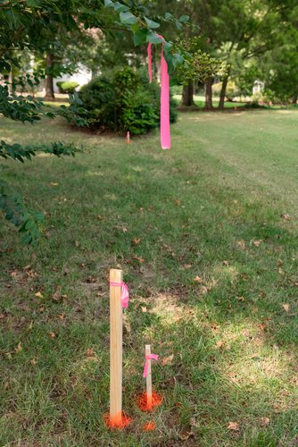 mark and measure when preparing for gravel driveway