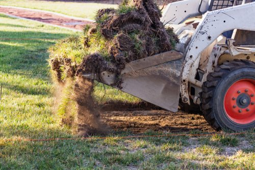 removing grass for gravel