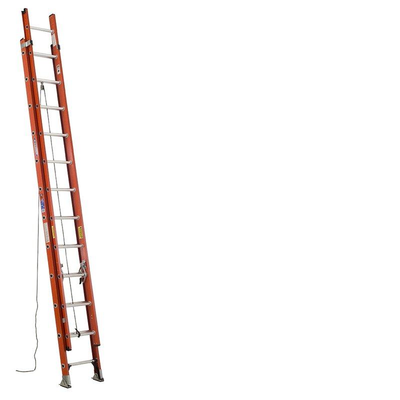 Werner 24 ft Fiberglass Extension Ladder with 300 lb. Load Capacity | Wayfair