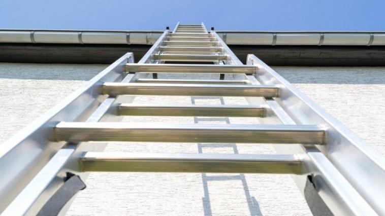 ladder on roof