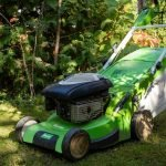 storing lawn mower in crawl space