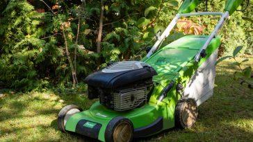 storing lawn mower in crawl space