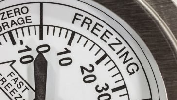 subzero freezing thermometer