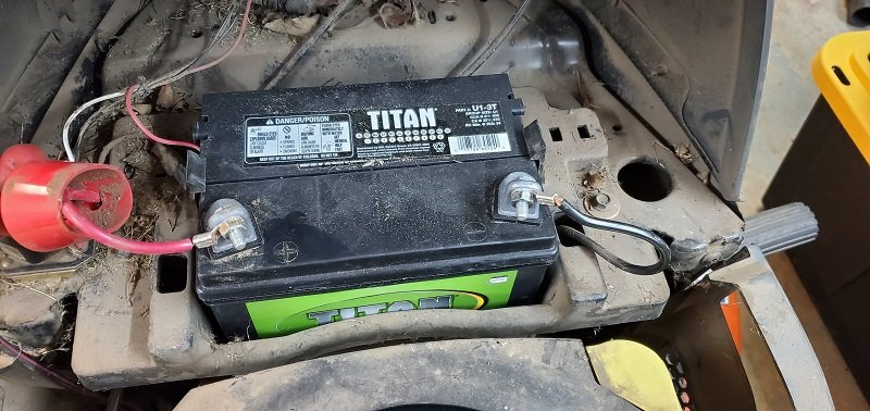 how to store lawn mower battery for winter