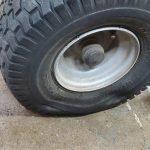 flat lawn mower tire