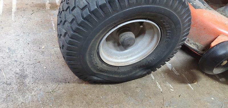 using fix a flat on flat lawn mower tire