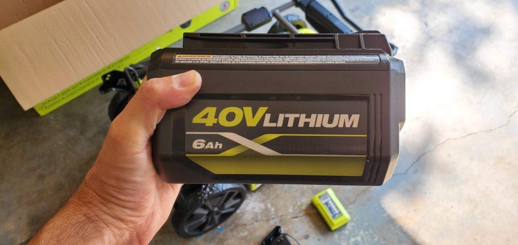 ryobi 40V 6ah lithium ion battery review