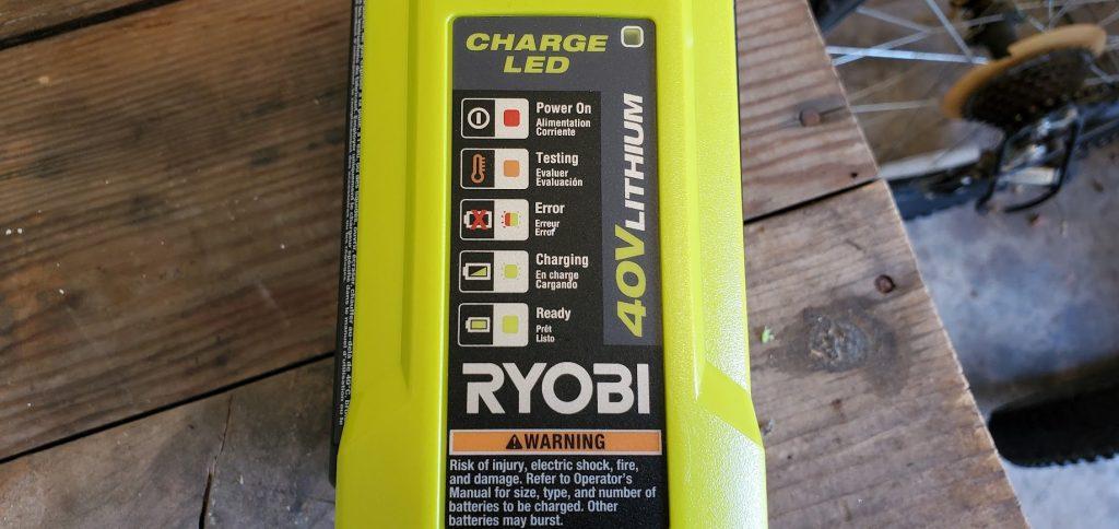 ryobi 40V battery charger