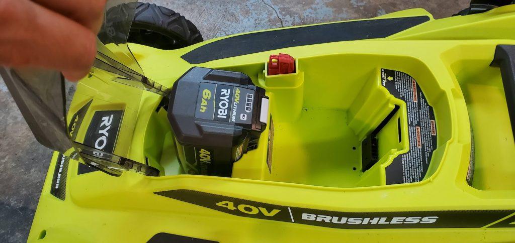 installing ryobi lawn mower battery