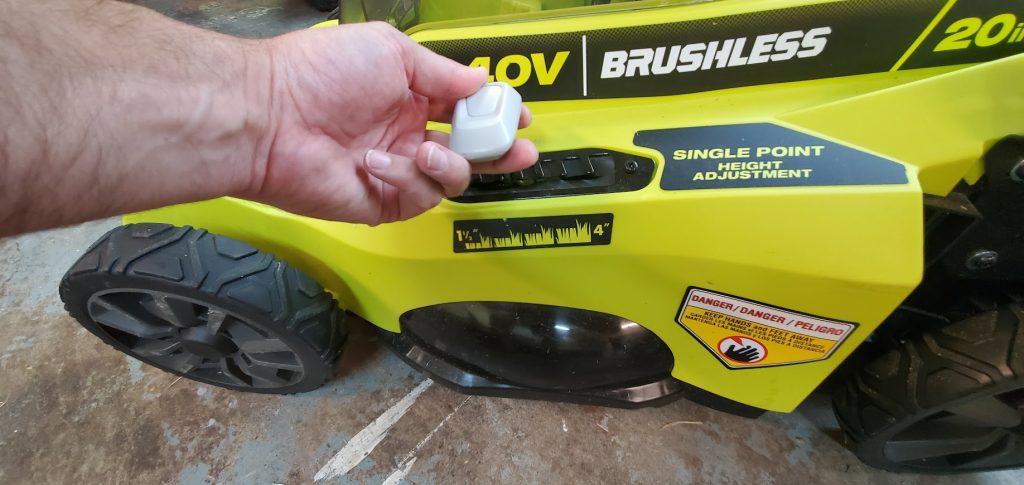 ryobi lawn mower height adjustment