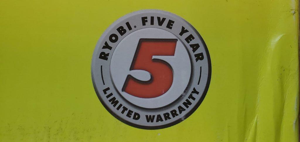 ryobi 40V lawn mower warranty